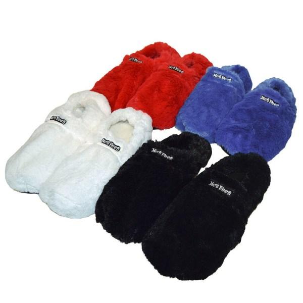 Hot Feet Värmetofflor - Tofflor - Värmer upp Fötterna Svart