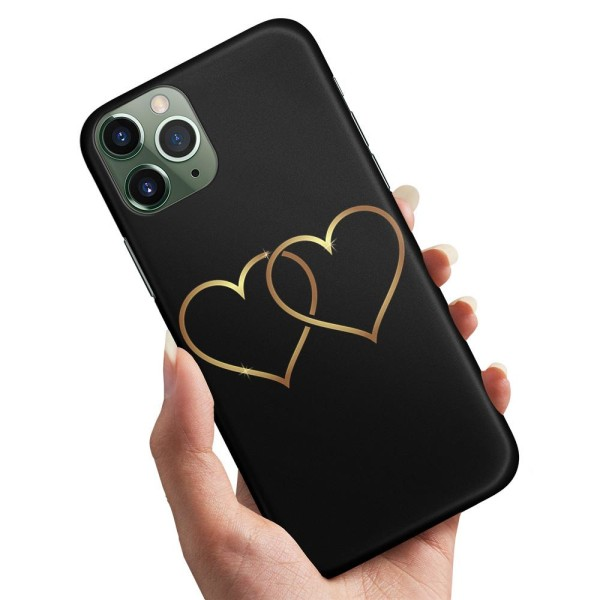 iPhone 12 Pro Max - Skal / Mobilskal Double Hearts