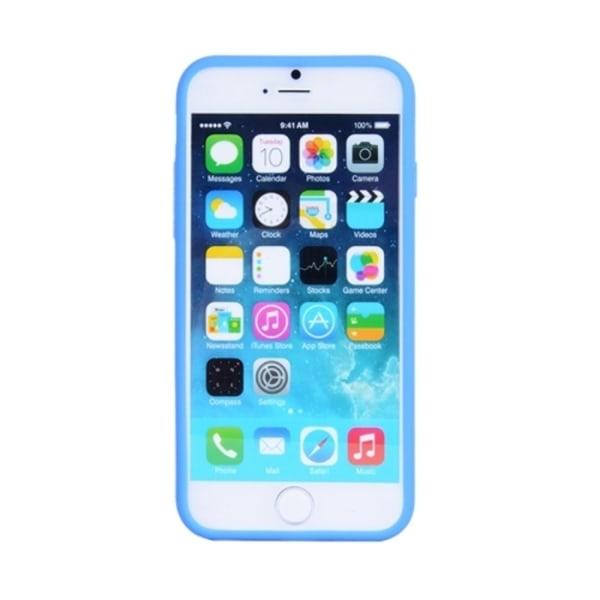 iPhone 6/6s Plus - Byggblock Skal / Mobilskal Silikon Svart/Blå white