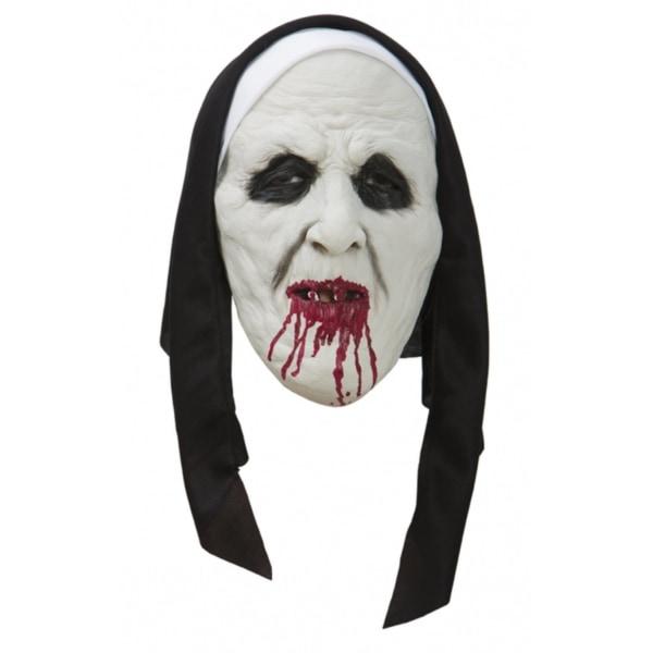 Läskig Nunna Mask - Halloween & Maskerad