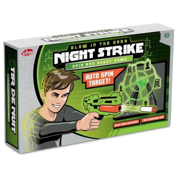 Nerf Gun Pistol med Pricktavla - Glow in the Dark - Prickskytte