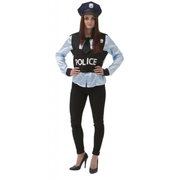 Poliskvinna Maskeraddräkt  - Halloween & Maskerad