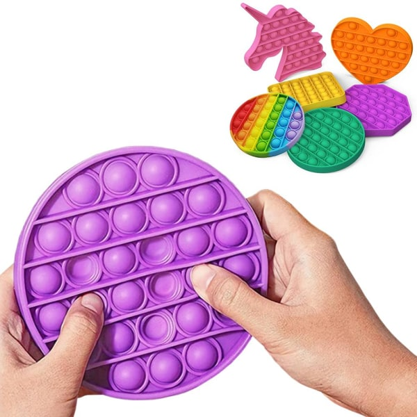 Pop It Fidget Toys - Leksak / Sensory - Välj modell & färg MultiColor Fyrkant - Multifärgad