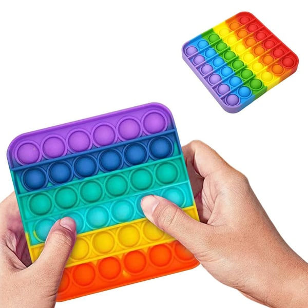 Pop It Fidget Toys - Leksak / Sensory - Fyrkant - Multifärg multifärg