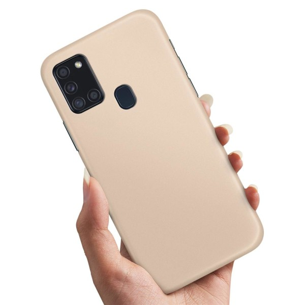 Samsung Galaxy A21s - Skal / Mobilskal Beige