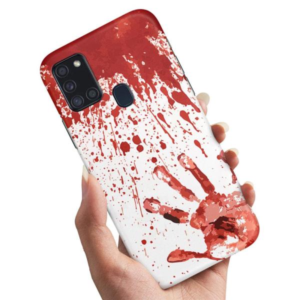 Samsung Galaxy A21s - Skal / Mobilskal Blodstänk
