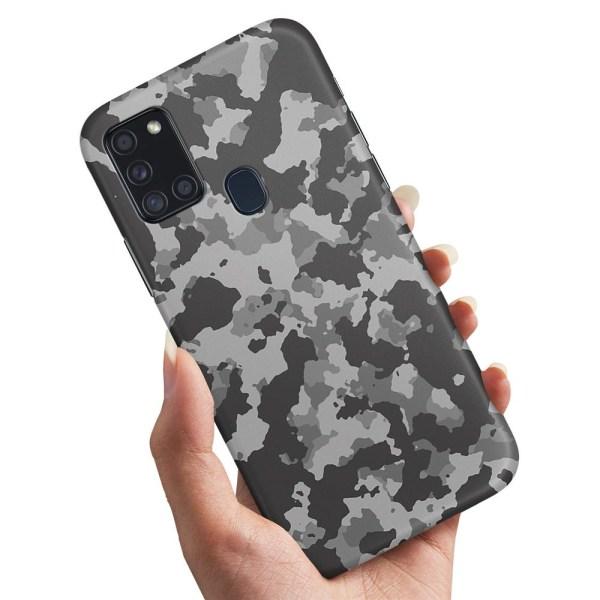 Samsung Galaxy A21s - Skal / Mobilskal Kamouflage