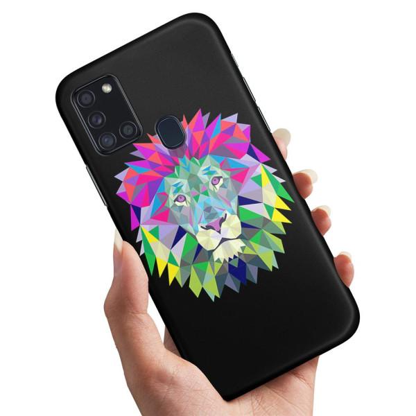 Samsung Galaxy A21s - Skal / Mobilskal Lejon