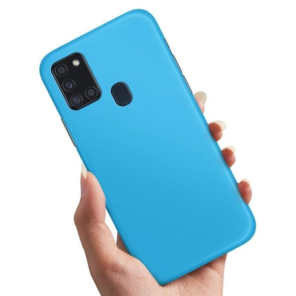 Samsung Galaxy A21s - Skal / Mobilskal Ljusblå
