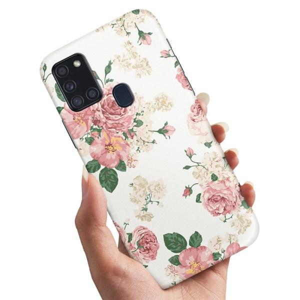 Samsung Galaxy A21s - Skal / Mobilskal Retro Blommor