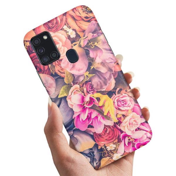 Samsung Galaxy A21s - Skal / Mobilskal Roses