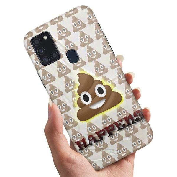 Samsung Galaxy A21s - Skal / Mobilskal Shit Happens