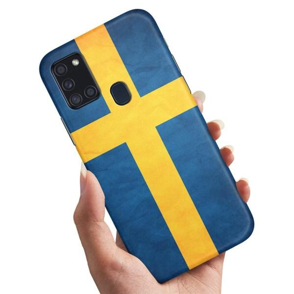 Samsung Galaxy A21s - Skal / Mobilskal Svenska Flaggan