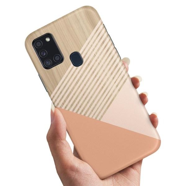Samsung Galaxy A21s - Skal / Mobilskal Träkonst