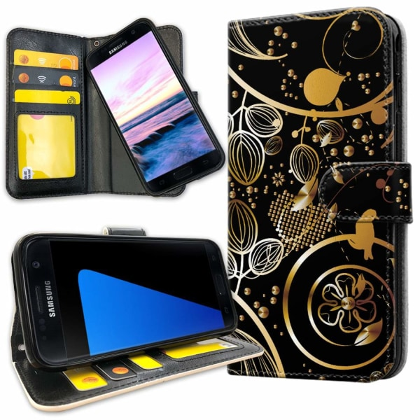 Samsung Galaxy S5 - Mobilfodral Guldmönster gold