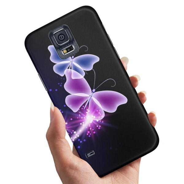 Samsung Galaxy S5 - Skal / Mobilskal Lila Fjärilar