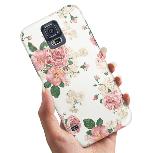 Samsung Galaxy S5 - Skal / Mobilskal Retro Blommor