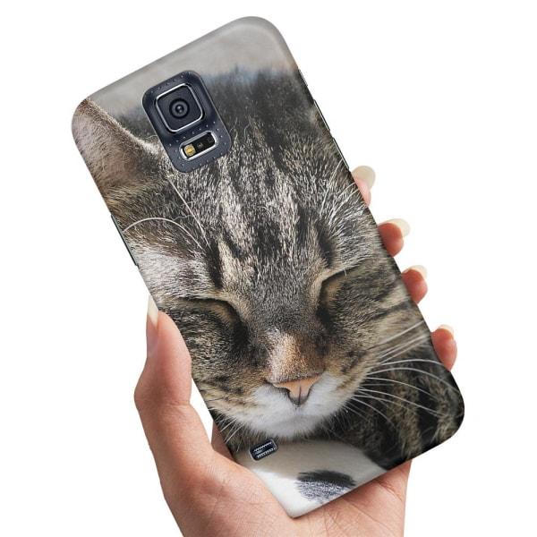 Samsung Galaxy S5 - Skal / Mobilskal Sovande Katt