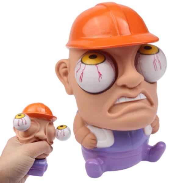 Stressboll / Klämboll / Stress Leksak - Pop-Eye - Byggare