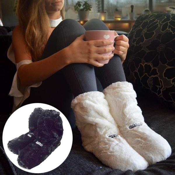 Värmetofflor / Tofflor - Värmer upp Fötter - Innetofflor Svart