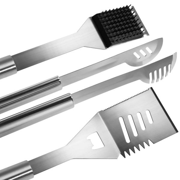 Grillbestick rostfritt stål 25 delar Silver
