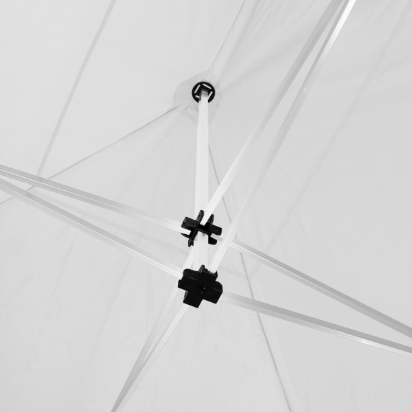Hopfällbart partytält Viola 3x6 m med 2 sidodelar Vit
