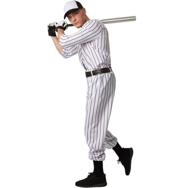 tectake Maskeraddräkt Herr Baseball White XXL