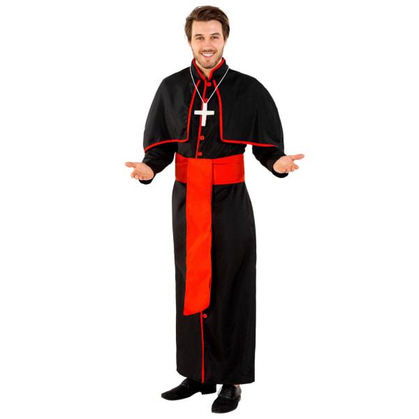tectake Maskeraddräkt Herr Kardinal Giovanni Black XXL