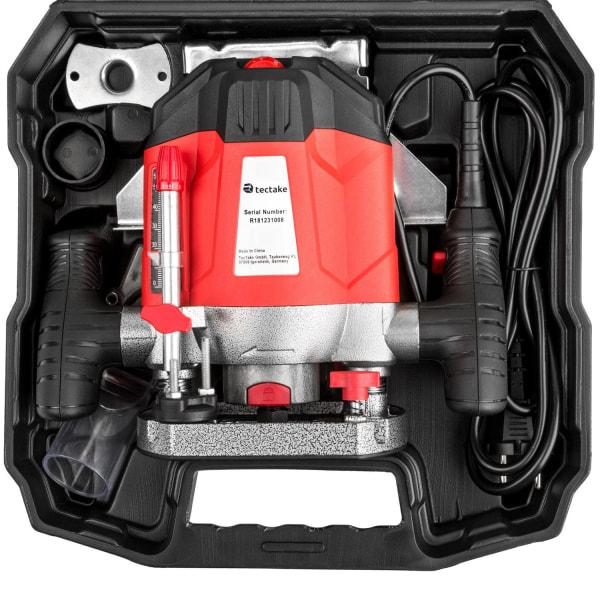 Överhandsfräs 1200W inklusive tillbehör Röd