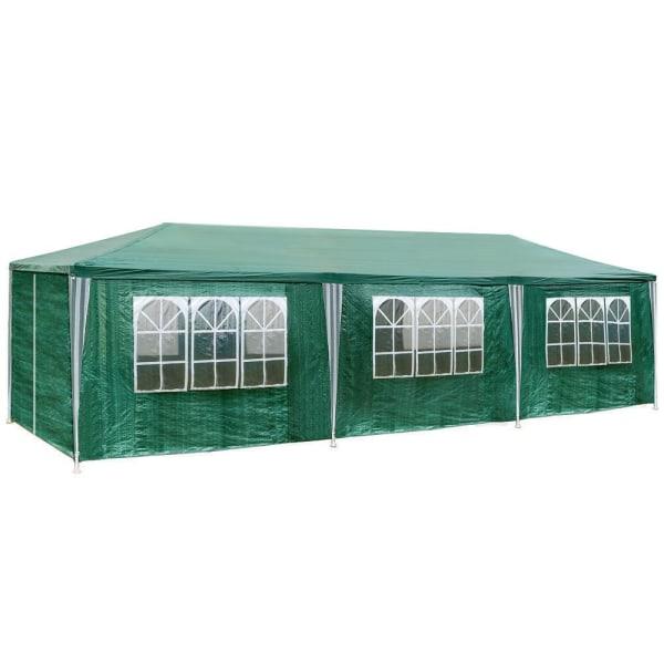 Partytält 9x3m med 8 sidodelar Green