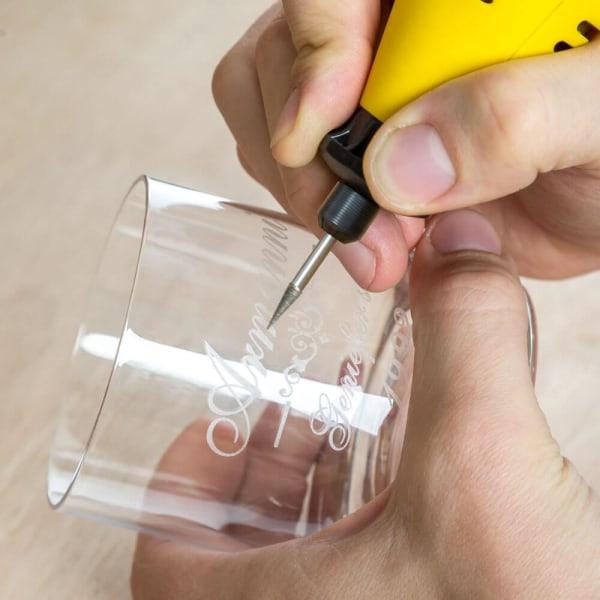 Slipmaskin mini set med 243 delar + bärväska Solig gul
