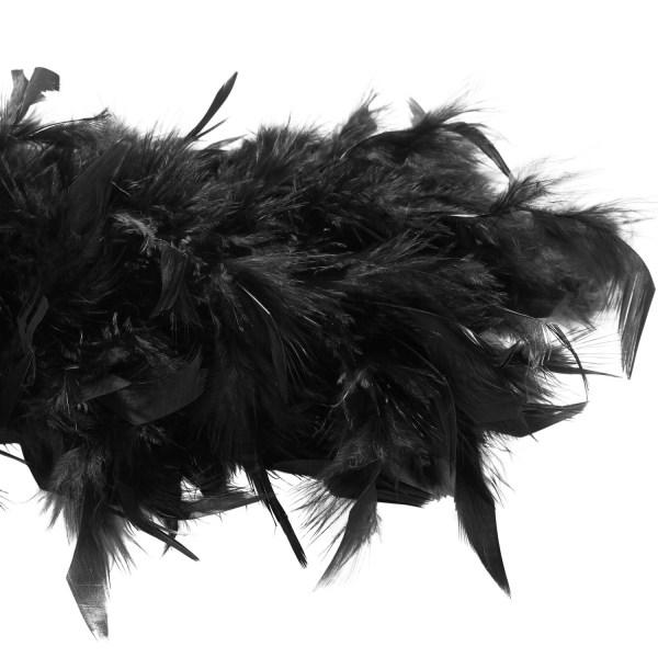 tectake Fluffig fjäderboa Svart