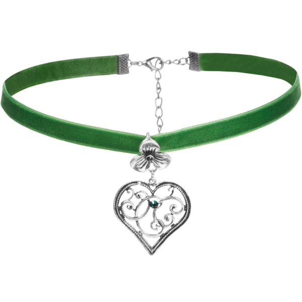tectake Halsband Bergkristall Grön