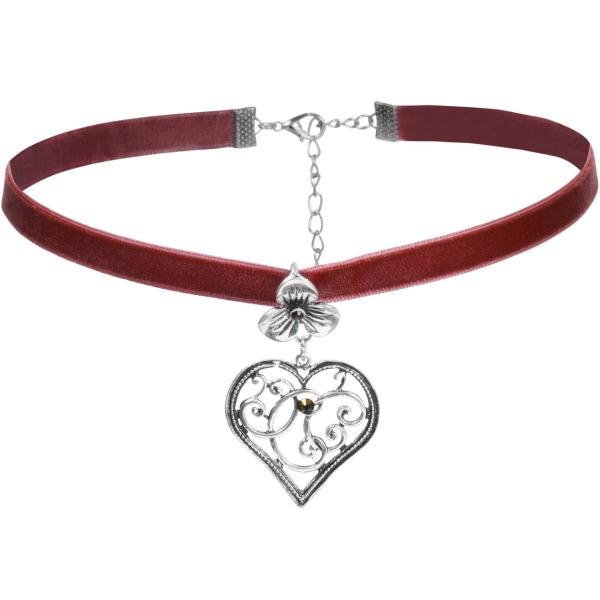tectake Halsband Bergkristall Röd