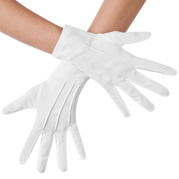 tectake Handskar med veck Vit one size