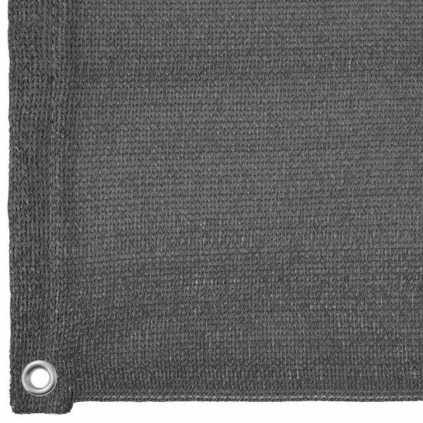 tectake Insynsskydd Balkong, version 2 -  75 cm grå