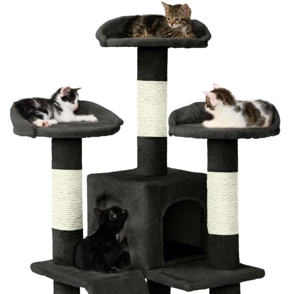 tectake Katt klösträd / klösmöbel Mogli Svart