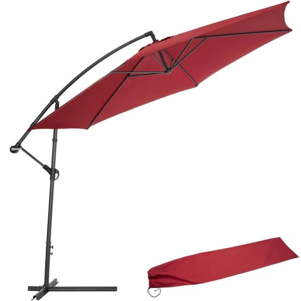 tectake Parasoll 350 cm Röd