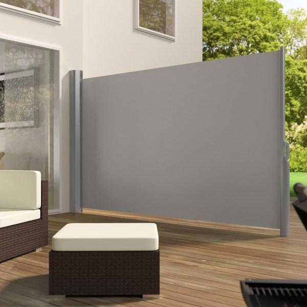 tectake Sidomarkis aluminium -  180 x 300 cm grå