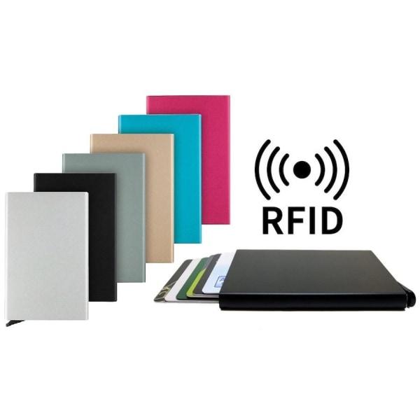 (5st Kort) RFID Pop-up korthållare Svart