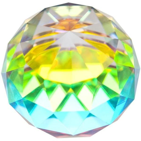 Fasetterad regnbåge kristallkula Spåkula - 4cm i diameter