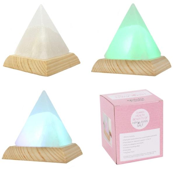 Himalaya Pyramid Usb Saltkristall Färgförändring Led-Lampa