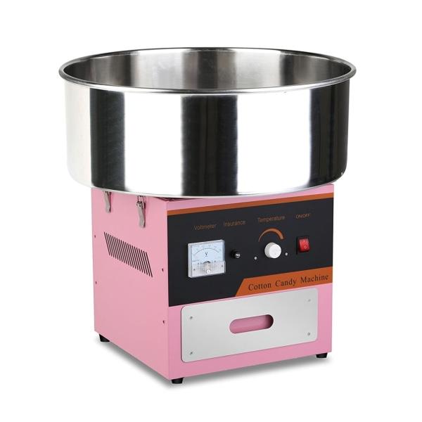 Rosa Sockervaddsmaskin med Hygieniskt Lock