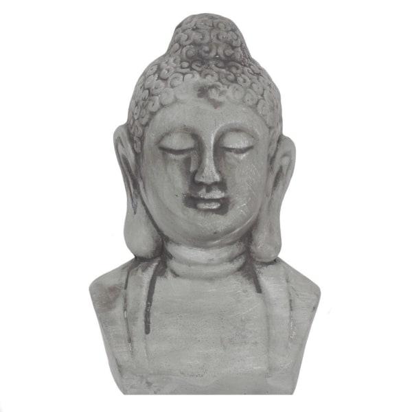 Rustik-effekt grå buddha huvud prydnad