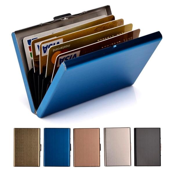 Stilren Exklusiv stål Korthållare / Plånbok - RFID Säker Svart