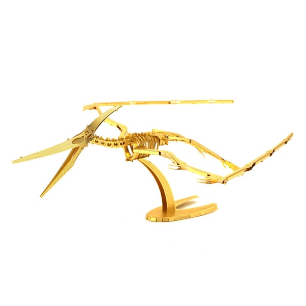 3D Pussel Metall - klassisk Pterosauria skelett guld