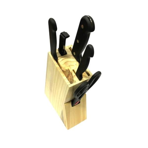 Knivset 6 delar - köksknivar block sax mm