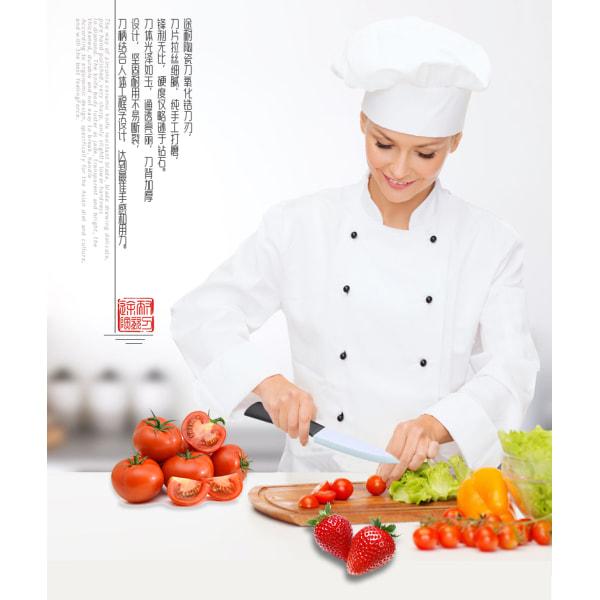 """Tonife Zirconia Ceramic Kitchen Knife - 5"""" utility knife Orange"""
