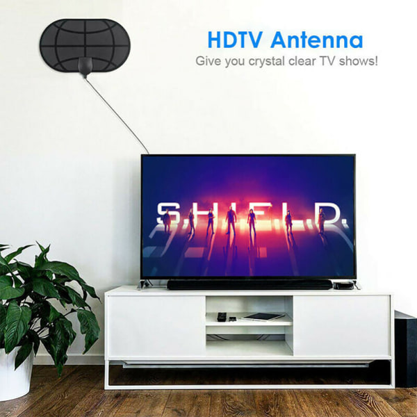 980 Mile Indoor Digital TV Antenna Aerial 4K 1080P HD