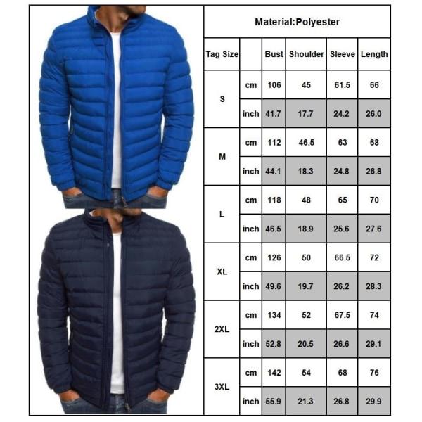Autumn Winter Male Casual Lightweight Down Coat gray L